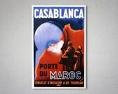 Casablanca Porte du Maroc Travel Poster - Poster Paper, Sticker or Canvas Print