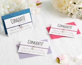 SALE - Congratulations Gift - Wish Bracelet - Congrats Card - Congratulations Card - Exam Congratulations - Charm Bracelet