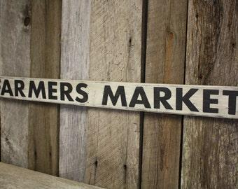Farmers Market Sign, Fixer Upper Style, Farmhouse Sign, Kitchen Sign, Farmers Market Decor