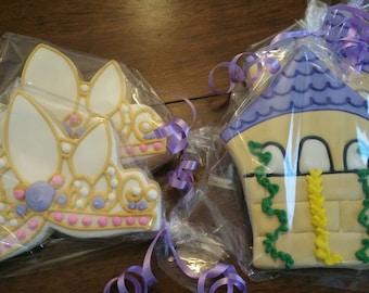 Rapunzel cookies  12 cookies
