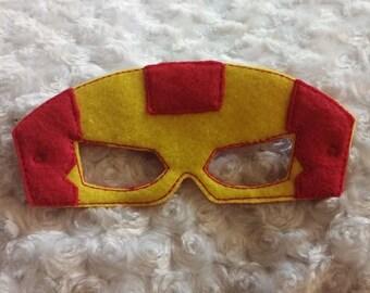 Iron Hero felt pretend play costume mask