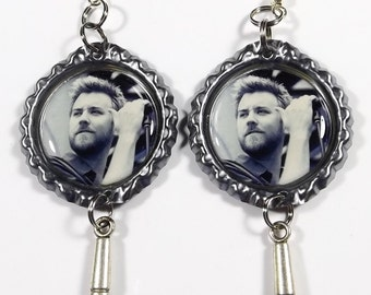 Charles Kelley Earrings - 1 Pair - With Microphone Charms