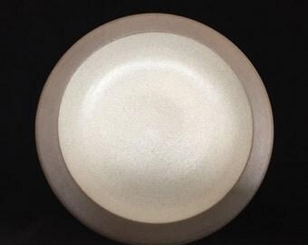 early Heath ceramics mini plate rim line ceramic plate studio pottery Edith heath pottery vintage ceramics dinnerware USA CA pottery plate