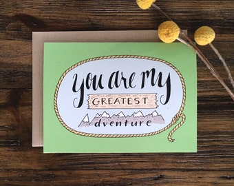 You Are My Greatest Adventure Anniversary Card for Him Anniversary Card for Her
