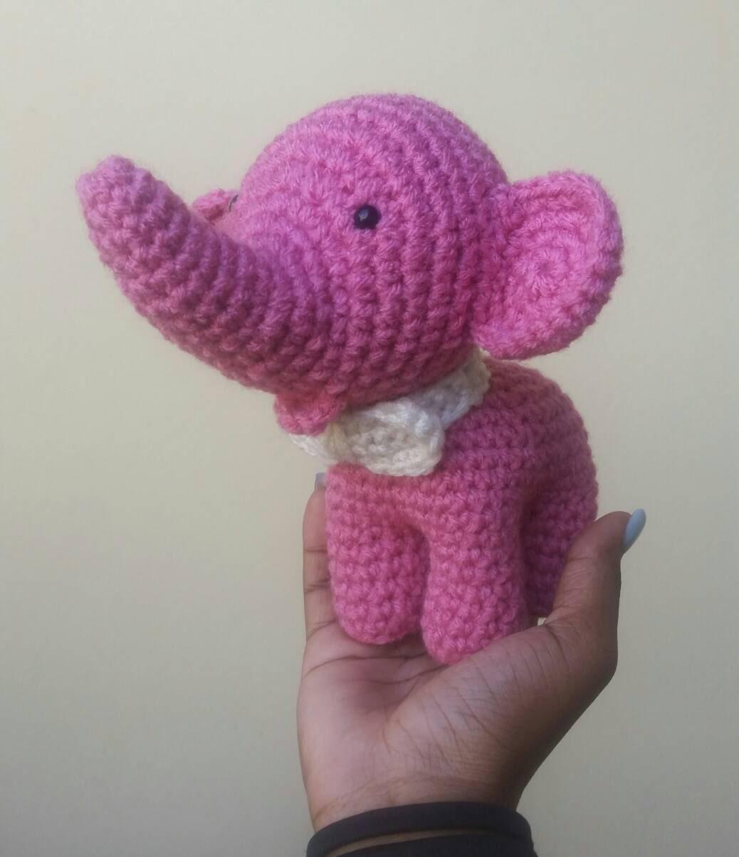 Free Crochet Pattern For Stuffed Elephant : Crochet elephant. Amigurumi elephant. Amigurumi toys stuffed