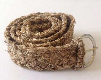Eco Friendly Natural Bohemain Pure Hemp Belt