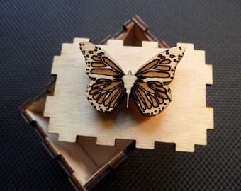 Butterfly wooden keepsake box