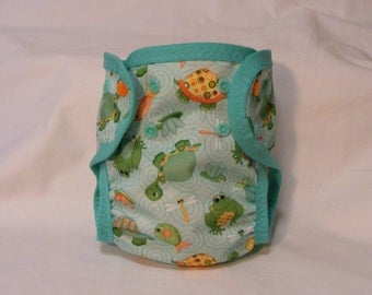 Large PUL Dry-Weave Lined Single-Sized Baby Diaper With Soaker