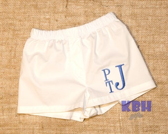 Embroidered baby boxer shorts / baby boy diaper cover