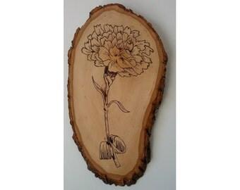 Woodburning - Carnation