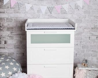 naturholz wickelaufsatz wickeltischaufsatz f r ikea malm. Black Bedroom Furniture Sets. Home Design Ideas