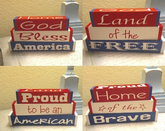 4th of July - Independence Day  interchangeable blocks