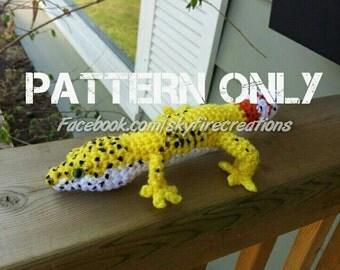 Leopard Gecko PDF Crochet Pattern PATTERN ONLY