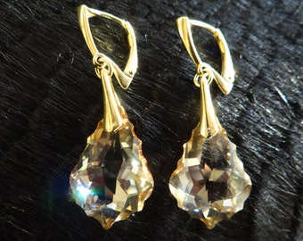 Golden color earrings