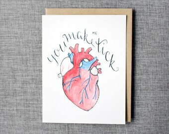 You Make Me Tick - Anatomy Friendship/Love Card