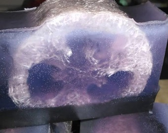 Lavender & Chamomile Scrub Soap (With Activated Charcoal)