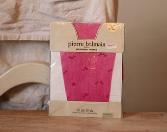 Fushsia Pink Vintage Designer Tights