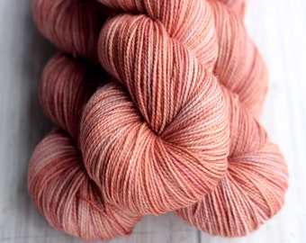 OOAK 19: Terracotta- 80/20 Superwash Merino Nylon Twistie Sock