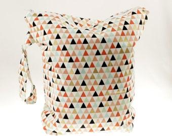 Geometric Wet Bag- Coral/Gold/Mint/Blush