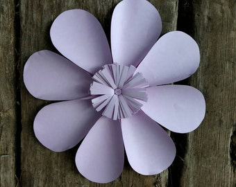 Giant Paper Flower 30cm diameter Pale Purple Daisy for wedding decor or photo booth backdrop.  In stock now. 706-047
