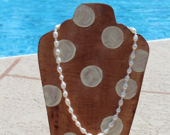 READY TO SHIP Freshwater Pearl Necklace with Pearl Charm