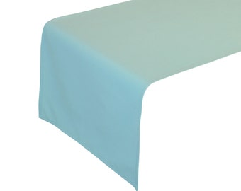 Aqua Spa Table Runner 14 x 108 inches | Wholesale Table Runners for Weddings, Banquet Events, Hotels and Restaurants, Wedding Table Decor
