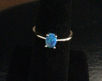 SALE   Blue Fire Opal Ring