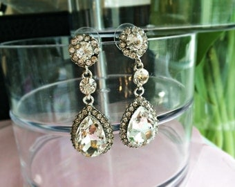 Earrings - Bridal Jewelry: Crystal drops