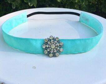 Elsa inspired running headband non slip 7/8 inches wide