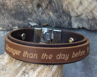 FREE SHIPPING-Personalized Bracelet,Men Double Strap Bracelet,Emboss Bracelet For Men,Leather Bracelet,Religious Men Bracelet,Custom Cuff