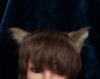 Cat's ears beige grey