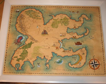 Personalised Fantasy Map, made to order