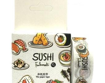 Washi Tape 10m Sushi SM212324