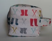 Sock Tawk Sock Cube Knitting & Crochet Project/Toiletry Box Bag
