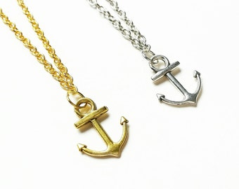 Nautical Anchor Necklace // Nautical Jewellery // Nautical Gift // Anchor Pendant // Maritime // Sea Jewelry // Ocean Jewelry