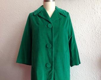 1960s Green velveteen coat
