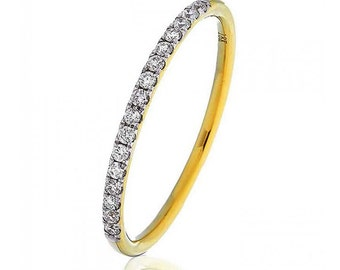 Half Eternity Diamond Ring 0.15ct 18K Yellow Gold 1.5mm