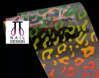 60% OFF Rainbow Animal Print Nail Foil