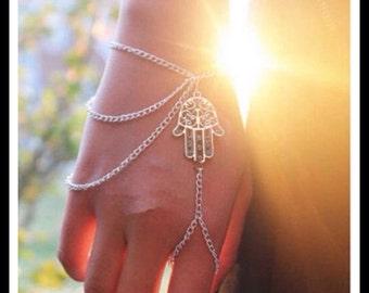 60% OFF Silver Hamsa Hand Chain
