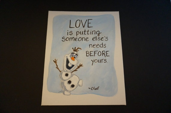 Items similar to Olaf the snowman art hand painted 8x10 ...