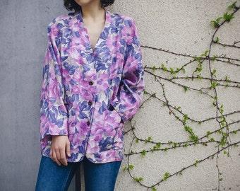 Floral Blazer / Vintage Floral Blazer / Vintage Blazer