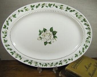 Vintage Superior Hall Quality Dinnerware - Serving Platter - Cameo Rose Pattern