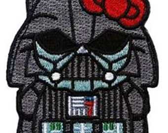 Star Wars Hello Kitty Darth Vader Morale Military Applique 3 inch Patch Iron on