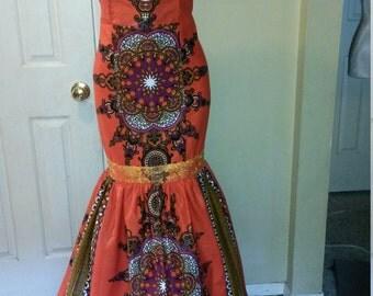 YKC African prints Marie- Laure  dress