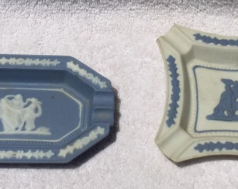Two Vintage Occupied Japan Wedgwood Ashtrays set of Two. 1940s