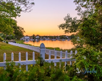 Wickford Charm ~ Wickford, Rhode Island, Boats, New England, Ocean, Coastal, Seascape, Art, Photograph, Artwork, Sailboats, Sunset