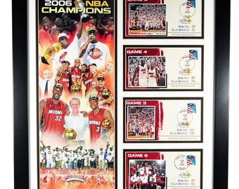 MIAMI HEAT: 2006 Championship Commemorative Framed Numbered Limited Edition, Collage of Memorabilia