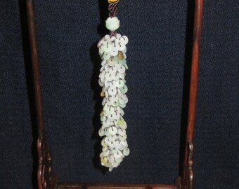 "6"" Hand Made Emerald Pendant"