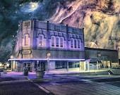 House of Wayward Dreams - Limited Edition Canvas Print - Denton Texas Recycled Books
