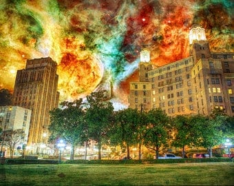 Deep in the Vapors - Limited Edition Canvas Print - Hot Springs, Arkansas Arlington Hotel Carina Nebula